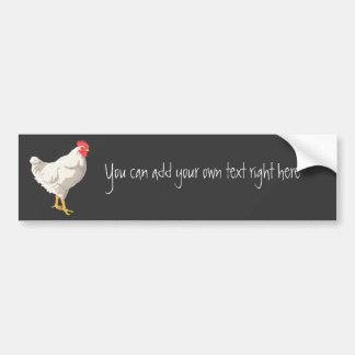 White Chicken Bumper Sticker