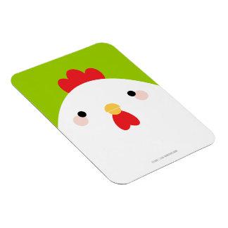 White Chicken Premium Magnet
