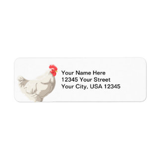 White Chicken Return Address Label