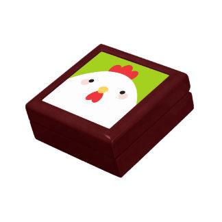 White Chicken Trinket Gift Box