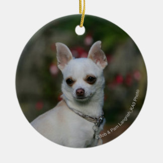 White Chihuahua Christmas Ornament