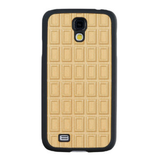 White Chocolate Bar Texture Carved® Maple Galaxy S4 Slim Case