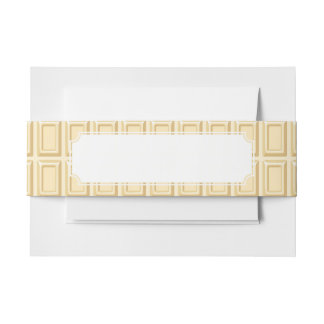 White Chocolate Bar Texture Invitation Belly Band