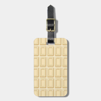 White Chocolate Bar Texture Luggage Tag