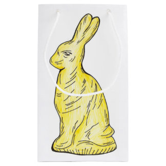 White Chocolate Easter Bunny Rabbit Candy Gift Bag