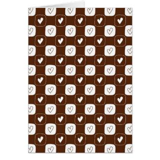 White Chocolate Hearts Greeting Card
