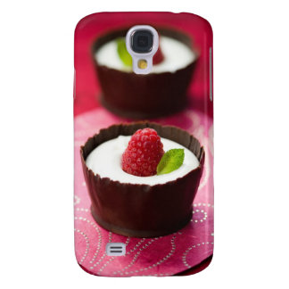 White chocolate mousse dessert galaxy s4 case