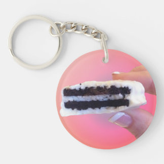 White Chocolate Oreo Key Ring