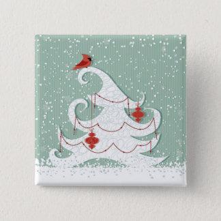 White Christmas Button