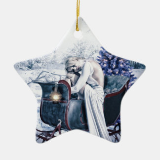 white christmas christmas ornament