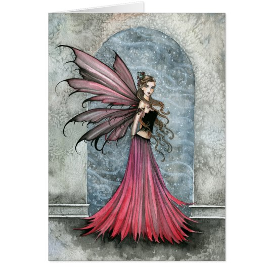 White Christmas Fairy Card by Molly Harrison