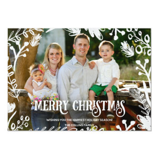 White Christmas Full Photo Horizontal Holiday Card