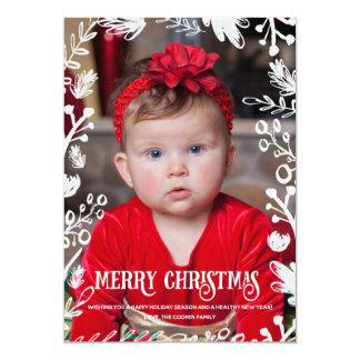 White Christmas Full Photo Overlay Holiday Card