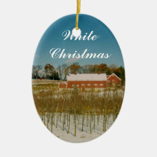 White Christmas in New England Christmas Ornament