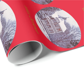White Christmas - Old Victorian House Wrapping Paper