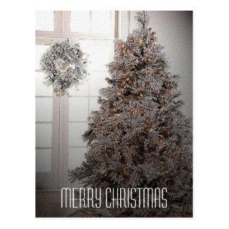White Christmas Postcard