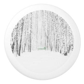 White Christmas Tale Ceramic Knob