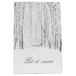 White Christmas Tale Medium Gift Bag