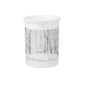 White Christmas Tale Pitcher