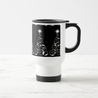 White Christmas Tree Art Coffee Mugs