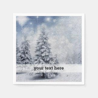 White Christmas tree Disposable Napkin