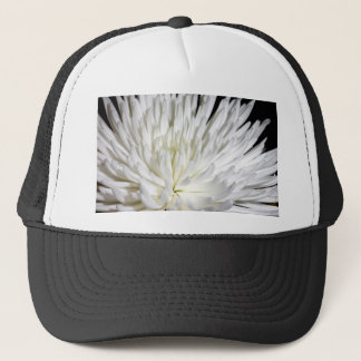 White Chrysanthemum Flower Mums Flowers Photo Trucker Hat