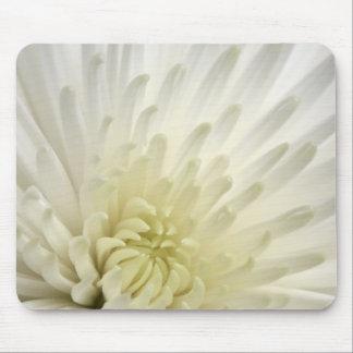 White Chrysanthemum Mouse Mat