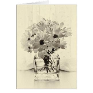 White Chrysanthemums Card