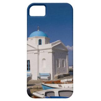 White church on the beach near the Aegean Sea on iPhone 5 Covers