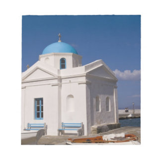 White church on the beach near the Aegean Sea on Notepad