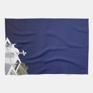 White Church Tea Towel
