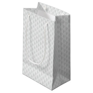 White circle embossed small gift bag