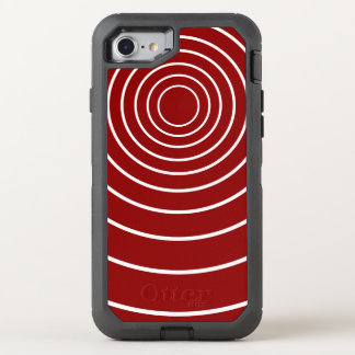 White Circles on Apple Red OtterBox Defender iPhone 8/7 Case