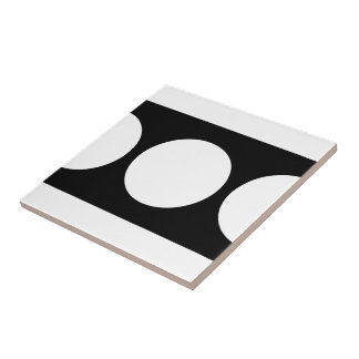 White Circles on Black Tile