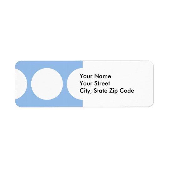 White Circles on Light Blue return address label