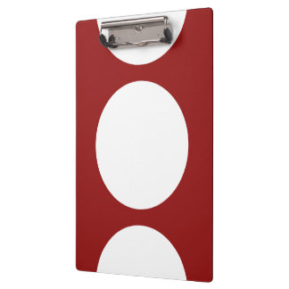 White Circles on Red Clipboard