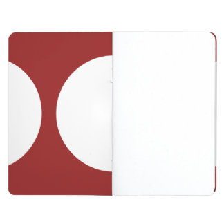White Circles on Red Journal