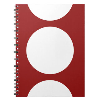 White Circles on Red Spiral Notebooks