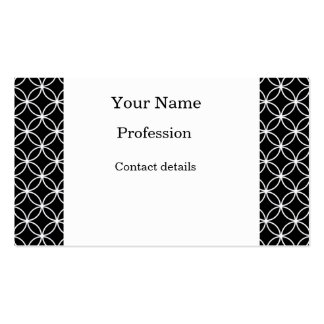 White Circles Pattern Business Card Template