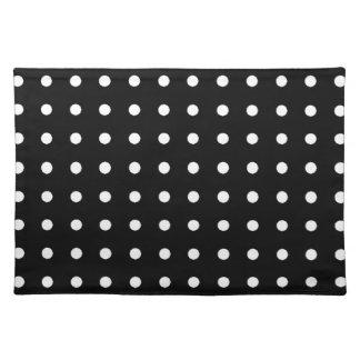 white circles - polka dots placemat