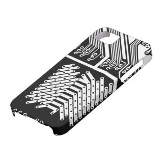 White Circuit Board Oh My! Barely There iPhone 5 Case