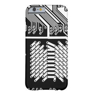 White Circuit Board Oh My! Barely There iPhone 6 Case