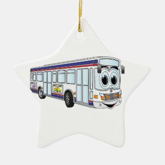 White City Bus Cartoon Christmas Ornament