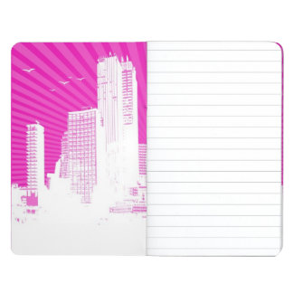 White city on pink background journal