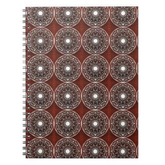 White Claret  Mandala Pattern Notebook