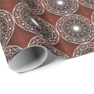 White Claret  Mandala Pattern Wrapping Paper