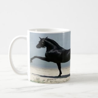 white, classic, custom, mug, horse, full wrap coffee mug