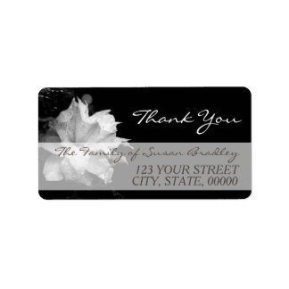 White Clematis Family Thank You Label 2 Address Label