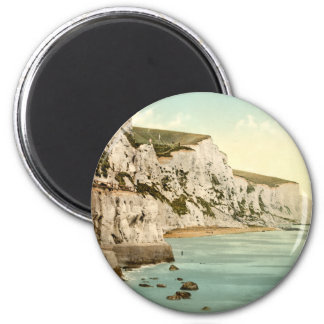White Cliffs of Dover, Kent, England 6 Cm Round Magnet
