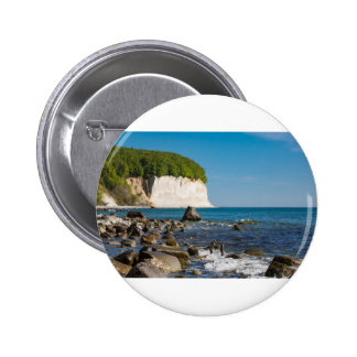 White cliffs on shore of the Baltic Sea 6 Cm Round Badge